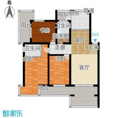 龙栖湾140.50㎡HB2户型3室2厅2卫