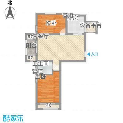 龙湖滟澜山89.00㎡龙湖滟澜山户型图聆湖F2户型2室2厅1卫户型2室2厅1卫