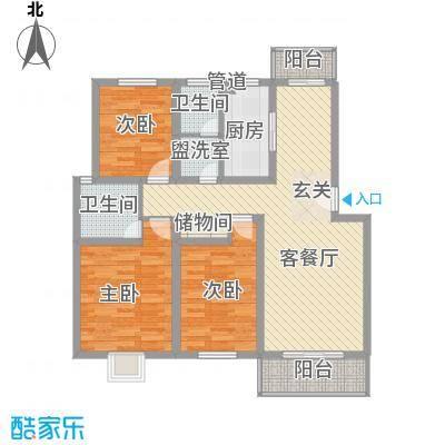 怡缘小区121.00㎡怡缘小区3室户型3室