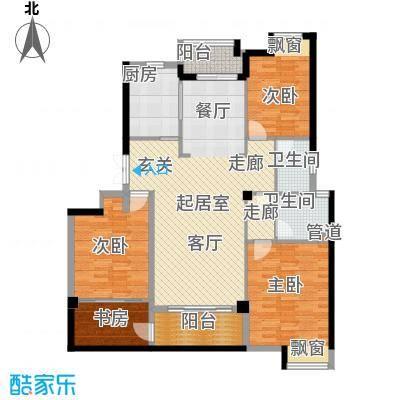 水畔兰庭146.00㎡水畔兰庭户型图E户型-146㎡4室2厅2卫1厨户型4室2厅2卫1厨