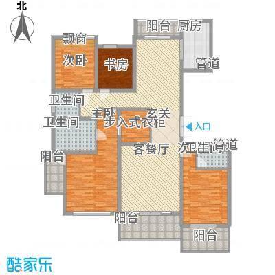 �山�秀183.00㎡�山�秀户型图高层D户型4室2厅3卫1厨户型4室2厅3卫1厨