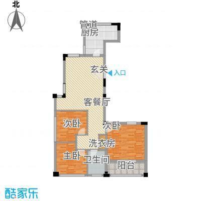 一品城130.00㎡一品城户型图高层户型C1-3室2厅1卫-约130㎡3室2厅1卫1厨户型3室2厅1卫1厨