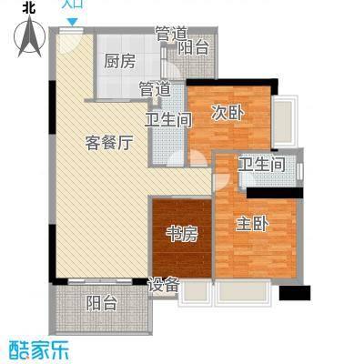 金丰大厦126.52㎡金丰大厦3室户型图01单位户型10室