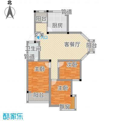 太湖花园三期118.19㎡太湖花园三期户型图G户型3室2厅2卫1厨户型3室2厅2卫1厨