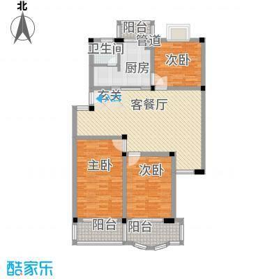太湖花园三期123.75㎡太湖花园三期户型图B户型3室2厅1卫1厨户型3室2厅1卫1厨