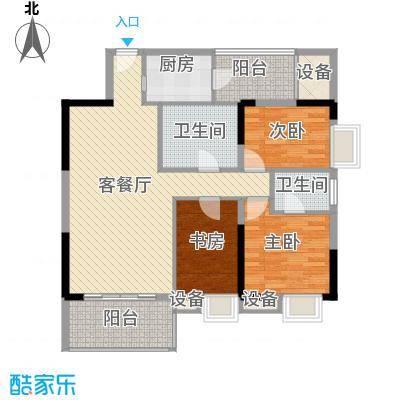 金丰大厦125.00㎡03单元户型3室2厅2卫1厨
