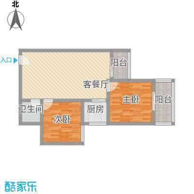 文景雅苑84.60㎡1号楼H户型2室2厅1卫1厨