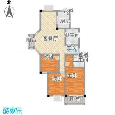 太湖花园三期134.42㎡太湖花园三期户型图F户型3室2厅2卫1厨户型3室2厅2卫1厨