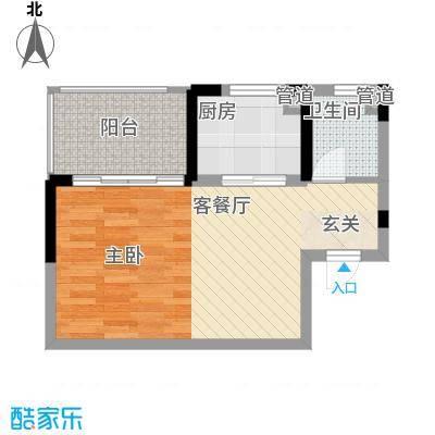 东风家园50.00㎡东风家园1室户型1室