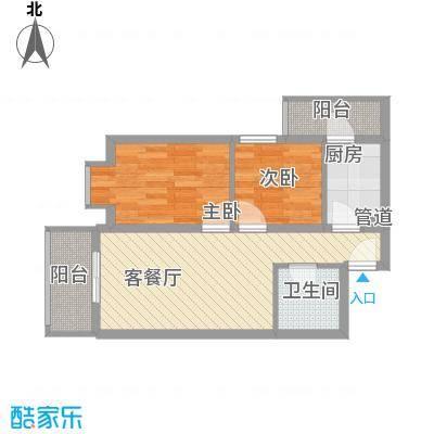 浙江商贸城63.00㎡浙江商贸城2室户型2室