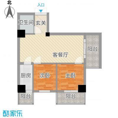 轩雨公寓80.00㎡3户型2室2厅1卫1厨