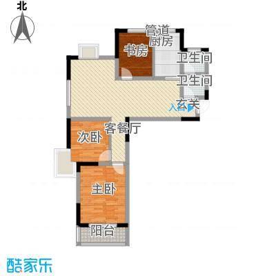 金润华庭104.24㎡金润华庭户型图J13室2厅1卫户型3室2厅1卫