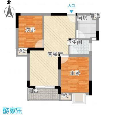 金润华庭86.78㎡金润华庭户型图J22室2厅1卫户型2室2厅1卫
