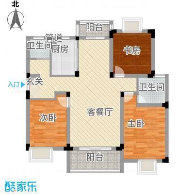 金润华庭116.68㎡金润华庭户型图B3室2厅2卫户型3室2厅2卫