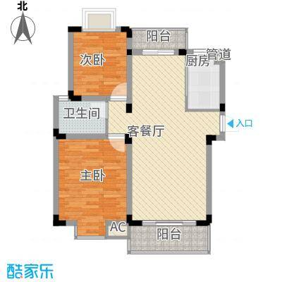 金润华庭89.10㎡金润华庭户型图L2室2厅1卫户型2室2厅1卫