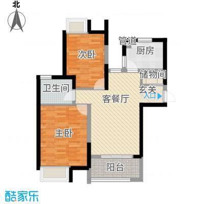 蓝庭国际87.87㎡蓝庭国际户型图1号楼1-A2室2厅1卫户型2室2厅1卫
