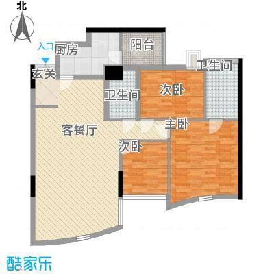 萨菲尔名邸137.17㎡萨菲尔户型图3室2厅2卫1厨户型10室