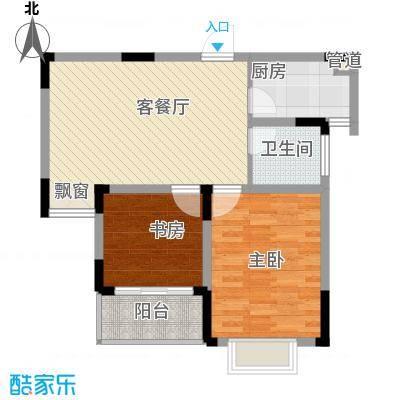 华夏世纪锦园户型图CG户型 2室2厅1卫1厨