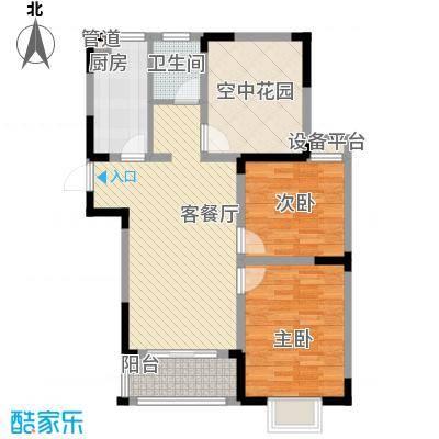 华夏世纪锦园户型图CC2户型 3室2厅1卫1厨