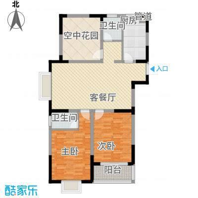 华夏世纪锦园户型图CA2户型 3室2厅2卫1厨