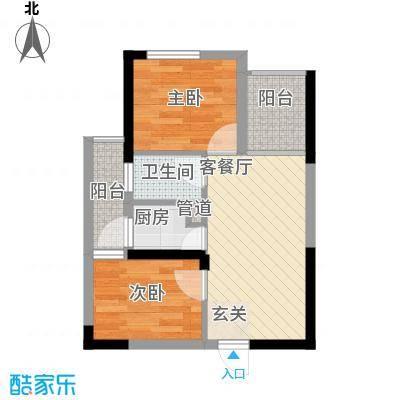 七里香榭户型图6#楼08户型 2室2厅