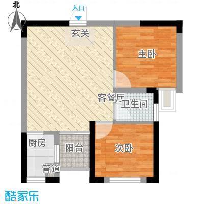 七里香榭户型图6#楼05户型 2室2厅