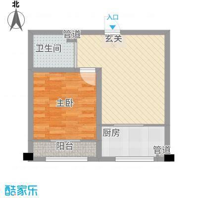 东城风景户型图N户型 1室1厅1卫1厨