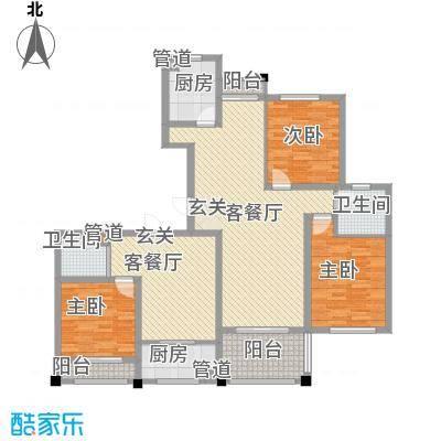 东城风景户型图M+N户型 3室3厅2卫2厨