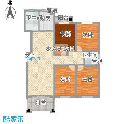 东城风景户型图B户型 4室2厅2卫1厨