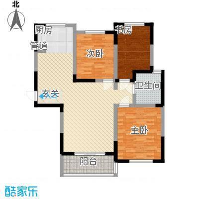 盛世新城123.32㎡二期1号楼C1-C户型3室2厅1卫