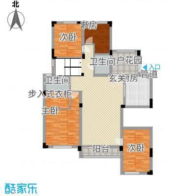 盛世新城166.00㎡一期8#楼1层东2户型4室2厅2卫