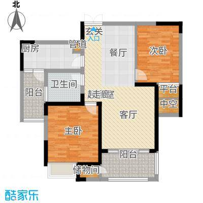 金科新大陆97.00㎡金科新大陆户型图G07户型2室2厅1卫户型2室2厅1卫