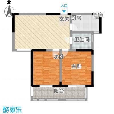 盛世新城89.76㎡一期高层7号楼户型2室2厅1卫