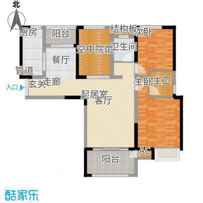 金科新大陆113.00㎡金科新大陆户型图G08户型2室2厅2卫户型2室2厅2卫