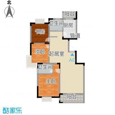 学墅丽邦134.02㎡学墅丽邦户型图D3室2厅2卫户型3室2厅2卫