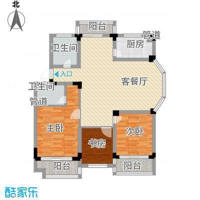 学墅丽邦122.64㎡学墅丽邦户型图F3室2厅2卫户型3室2厅2卫