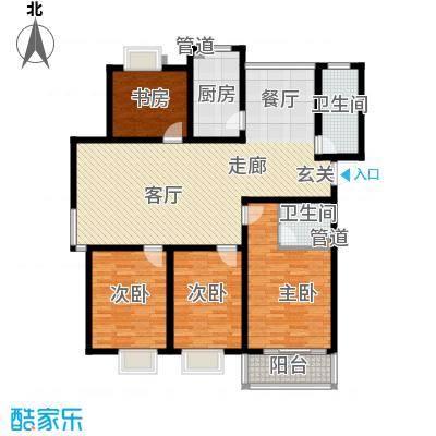 学墅丽邦141.52㎡学墅丽邦户型图G4室2厅2卫户型4室2厅2卫