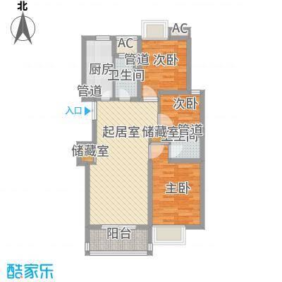 蓝庭国际116.78㎡蓝庭国际户型图2-DFKM3室2厅2卫户型3室2厅2卫