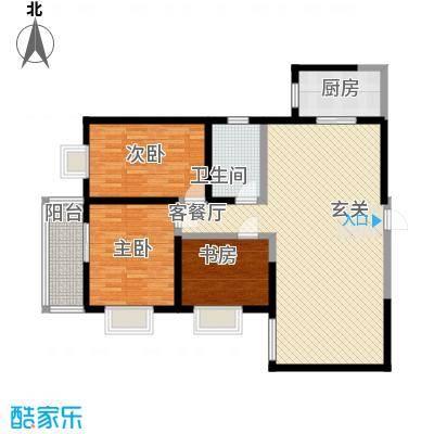 雅荷中环大厦百3-2-1-2户型3室