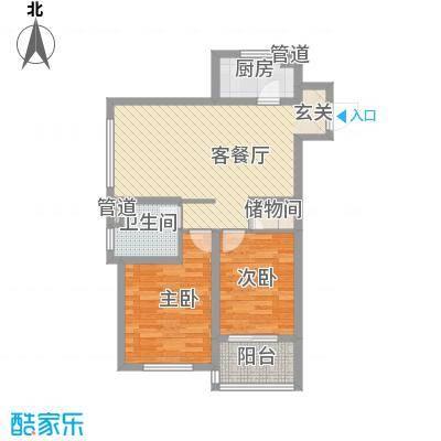 金域蓝湾89.00㎡金域蓝湾户型图89平户型2室2厅1卫户型2室2厅1卫