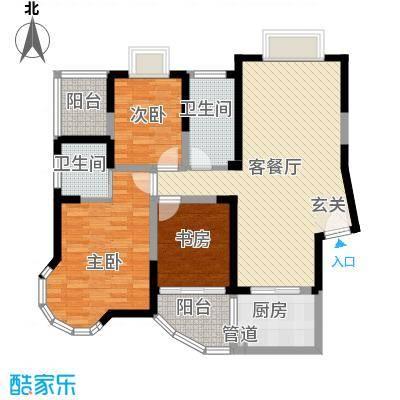 新港国际120.00㎡新港国际户型图L3室2厅2卫1厨户型3室2厅2卫1厨