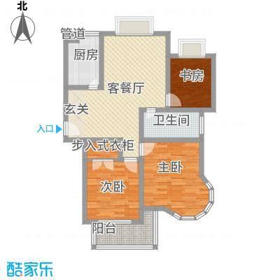 新港国际107.00㎡新港国际户型图K3室2厅户型3室2厅