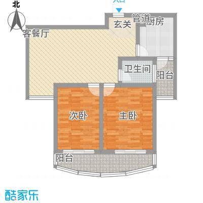 新港国际104.00㎡新港国际户型图F2室2厅1卫户型2室2厅1卫