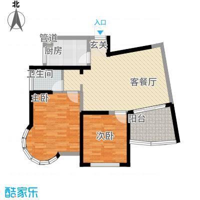 新港国际91.00㎡新港国际户型图M2室2厅1卫1厨户型2室2厅1卫1厨