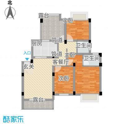 锦翠嘉苑112.21㎡洋房4层标准户型3室1厅2卫