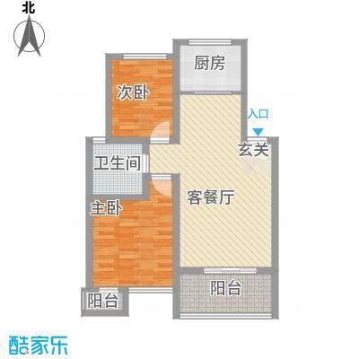 金福南苑90.00㎡金福南苑2室户型2室