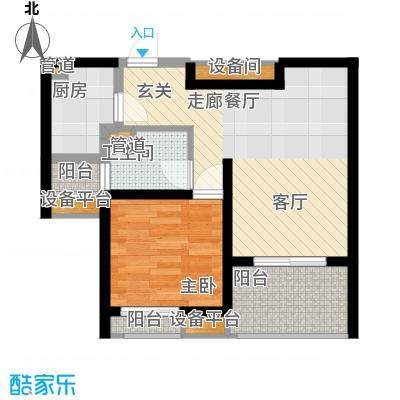 金海里55.00㎡金海里户型图1室户型图1室1厅1卫1厨户型1室1厅1卫1厨