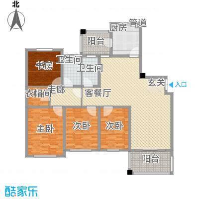 和睦家园198.00㎡和睦家园户型图F4室2厅2卫户型4室2厅2卫