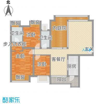 上林雅苑82.00㎡上林雅苑2室户型2室