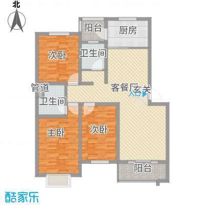 上林雅苑150.00㎡上林雅苑3室户型3室